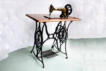 Singer 13K Sewing Machine on Treadle