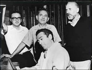 Sheldon Harnick, Joseph Stein, Jerry Bock, and Jerome Robbins